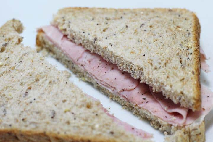 Ham Mayo Sandwich Delicious Basic Sandwich Ideal For Taking With You