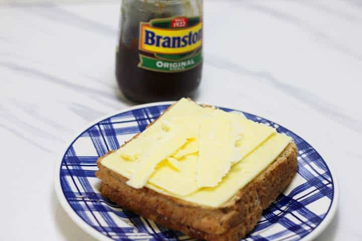 cheese ploughmans sandwich