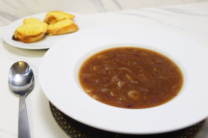 recipe vegetarian french onion soup
