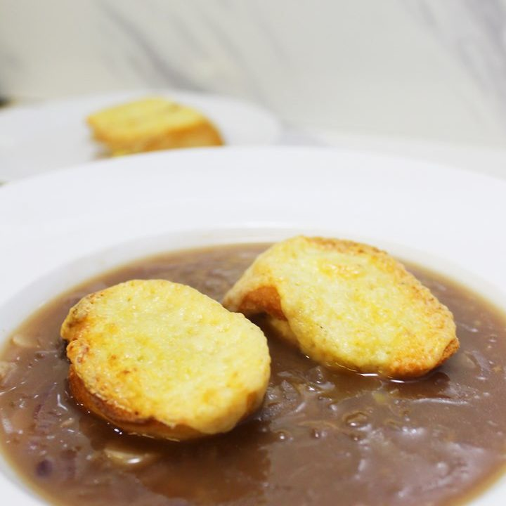 french onion soup vegetarian