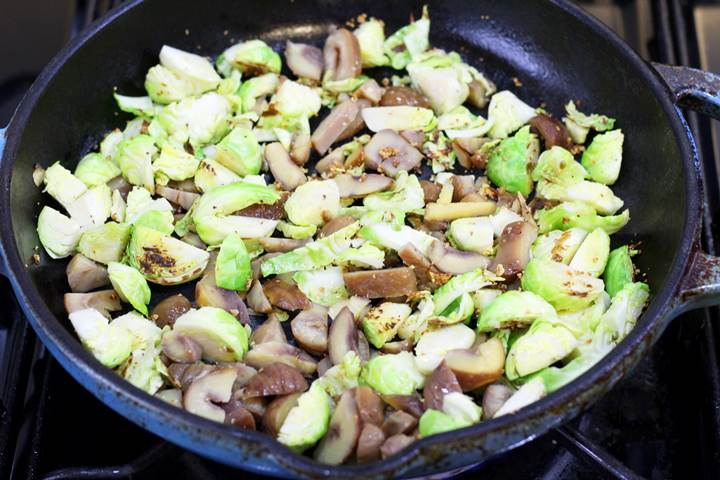 sprouts and chestnuts vegetarian