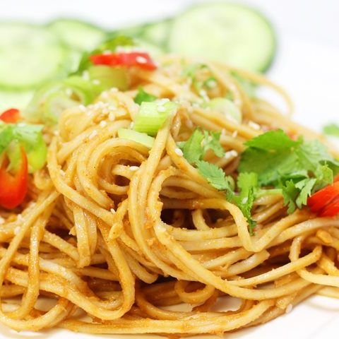 Takeout Style Sesame Noodles