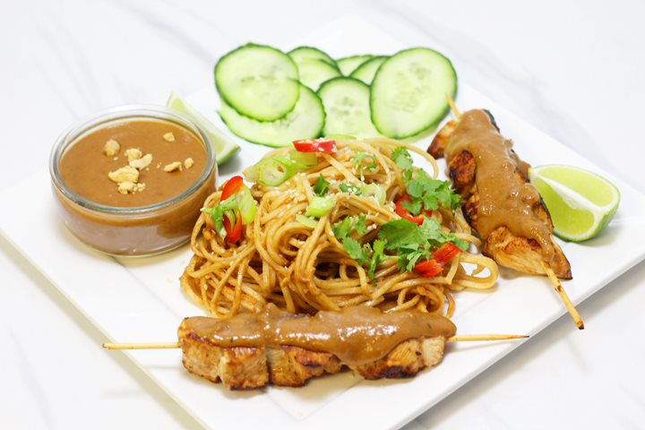 satay and sesame noodles