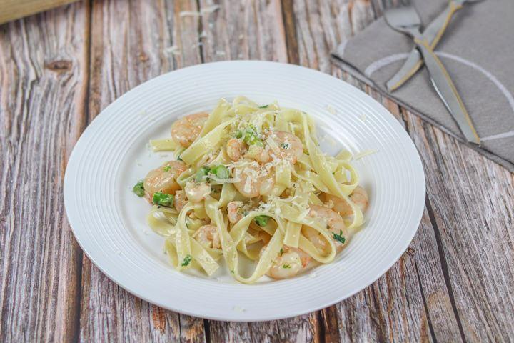 prawn creamy pasta