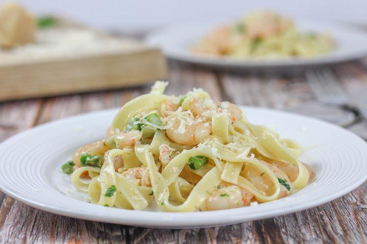 asparagus prawn pasta