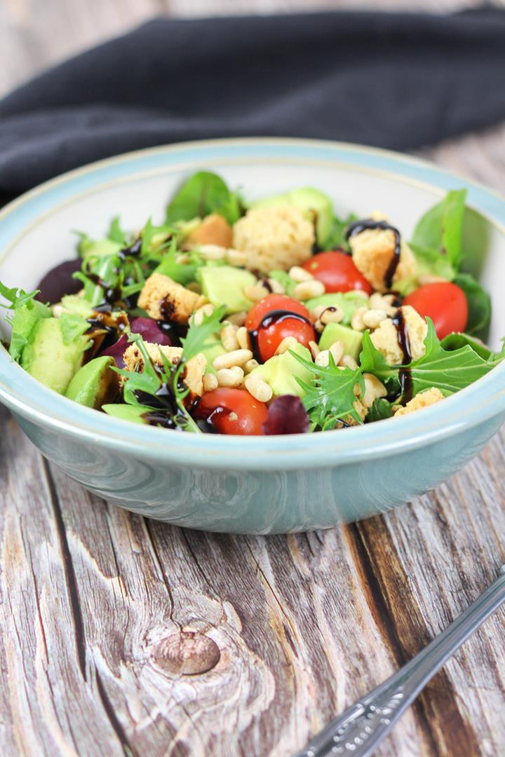light healthy salad
