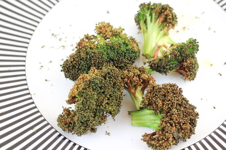 crispy air fried broccoli
