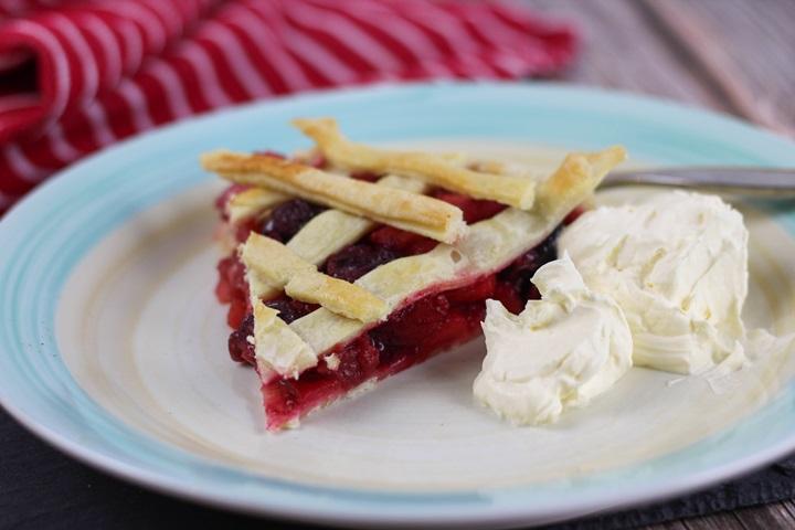 apple cherry pie with frozen cherries