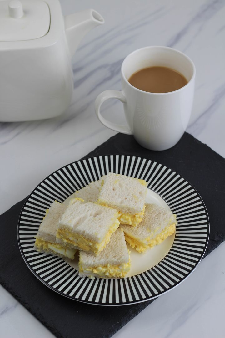 egg sandwich afternoon tea