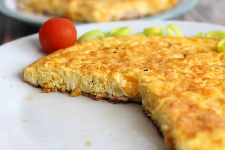 onion and cheese omelette