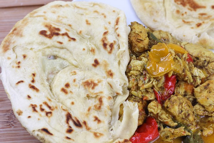 paratha with curry