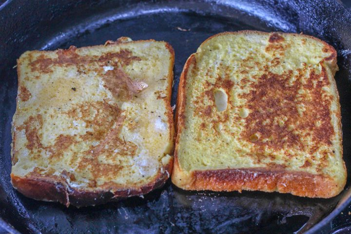 frying eggy bread