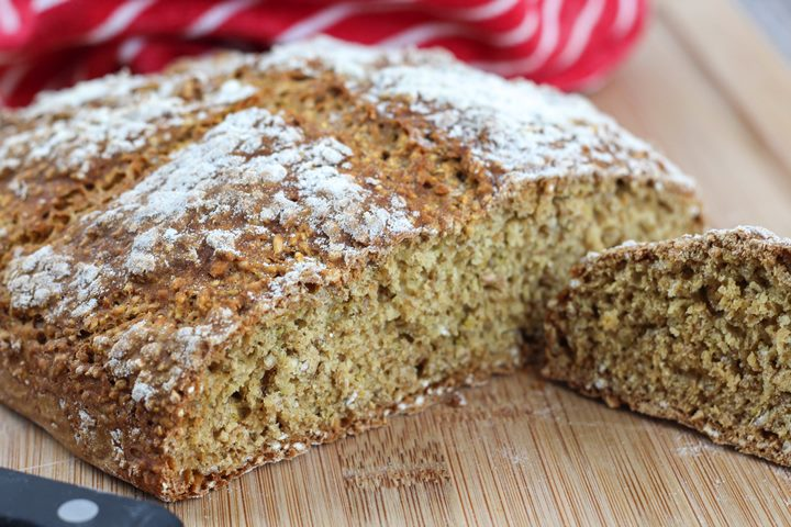 brown soda bread crumb