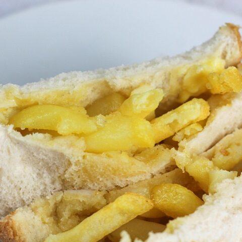 british chip sandwich