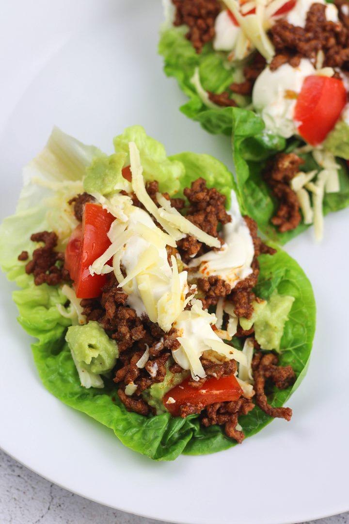 gluten-free lettuce taco