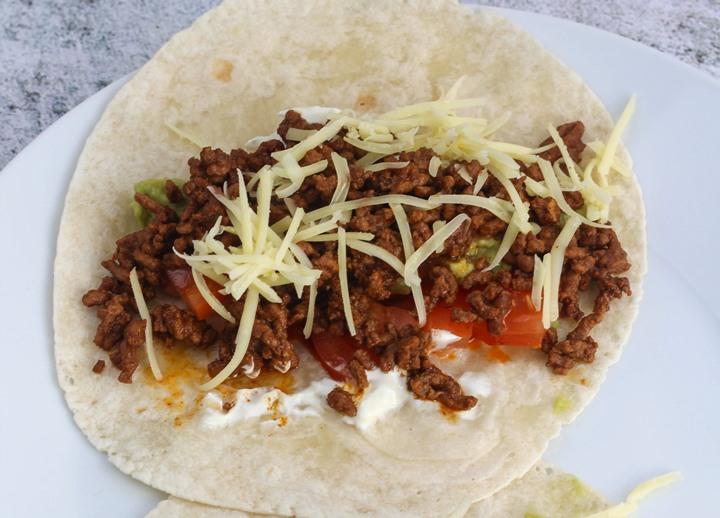beef taco wraps