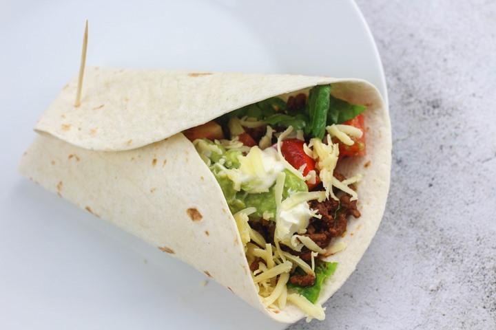 beef taco tortilla