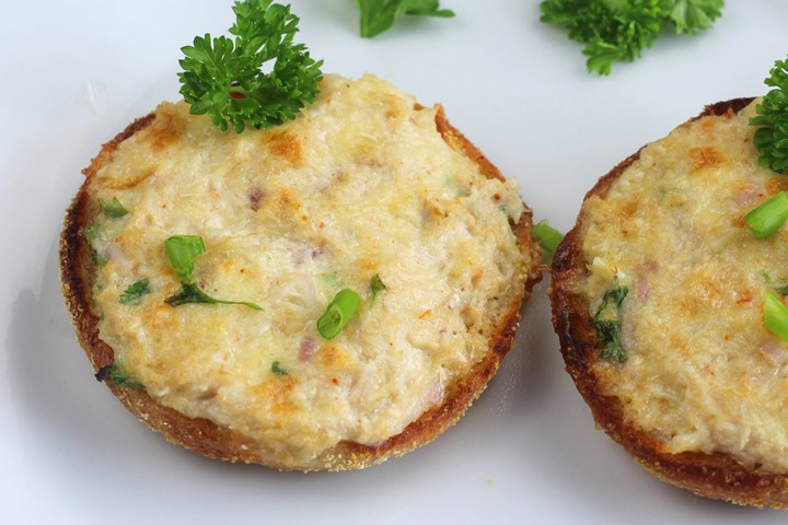 english muffin crab melt