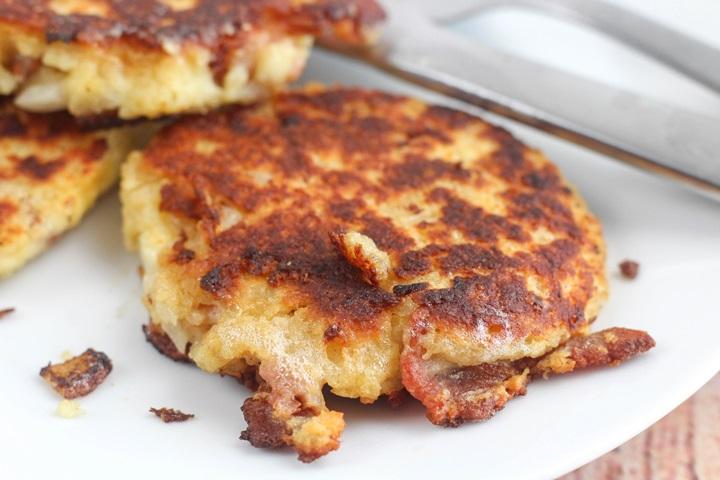 potato pattie with bacon