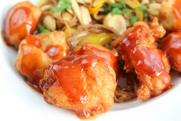 sweet and sour chicken balls