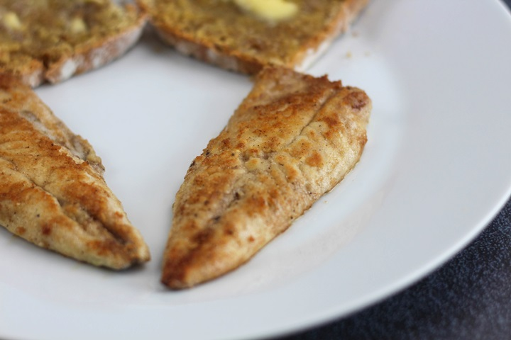 fried atlantic mackerel