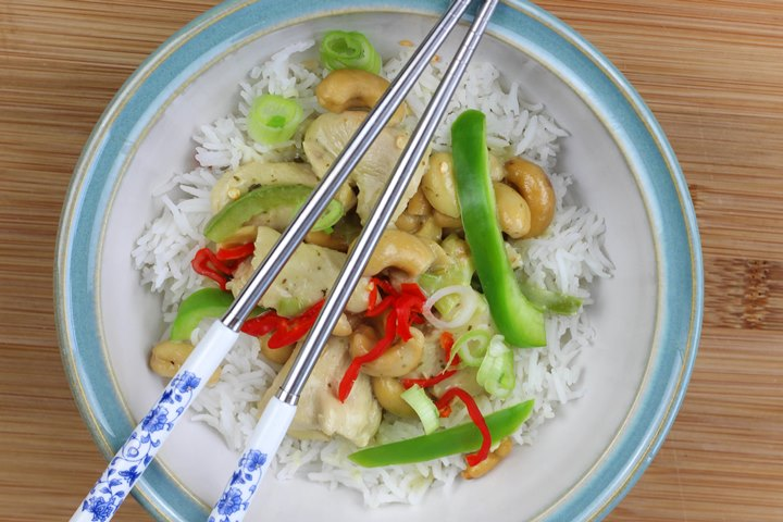 thai spicy cashew chicken