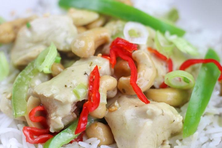 calories in cashew chicken