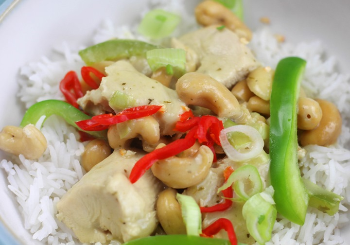 calories in cashew chicken