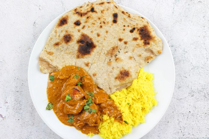 butter chicken and chapati