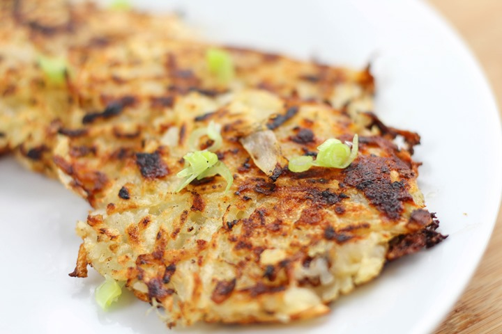 cheese and onion rosti