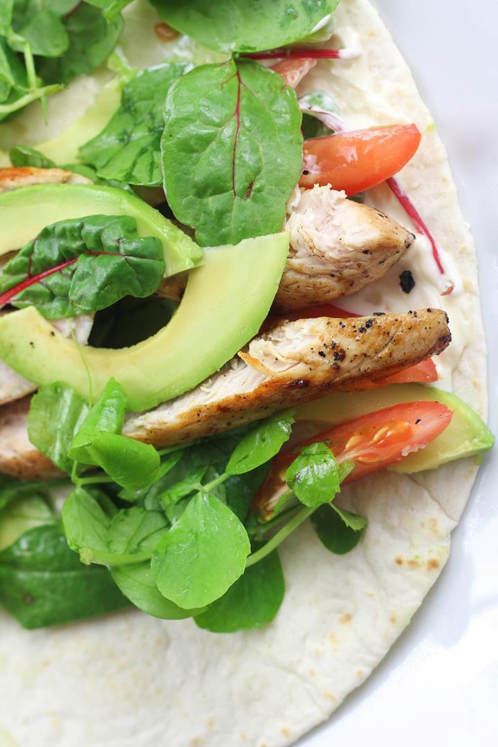 healthy chicken wrap