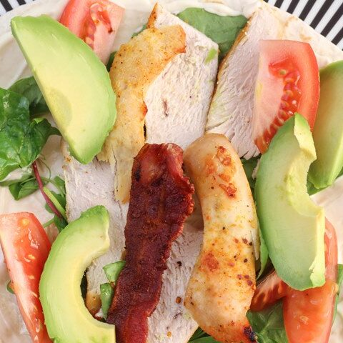 chicken salad tortilla