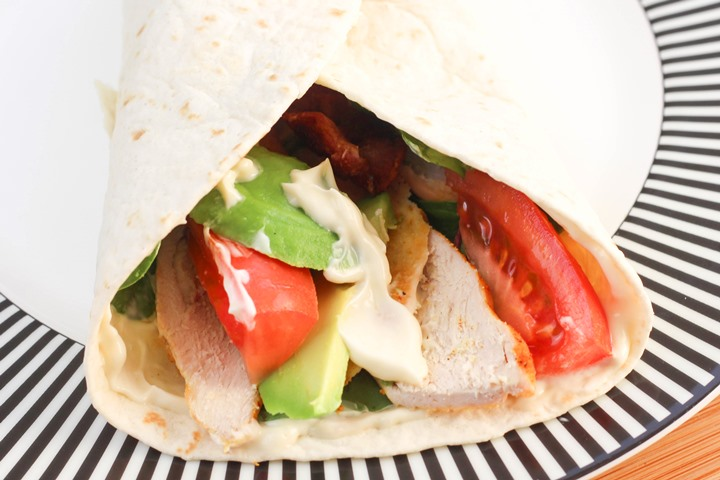 chicken salad wrap
