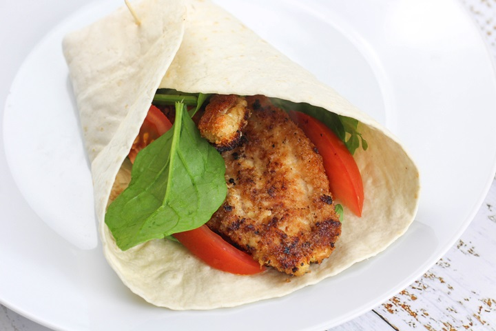 crispy chicken wraps