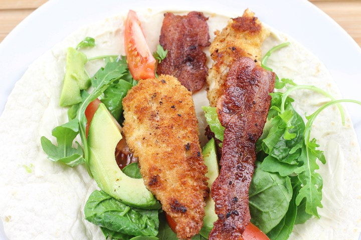 fried chicken wraps
