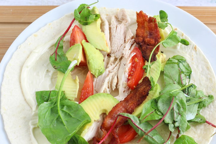 leftover chicken salad wrap