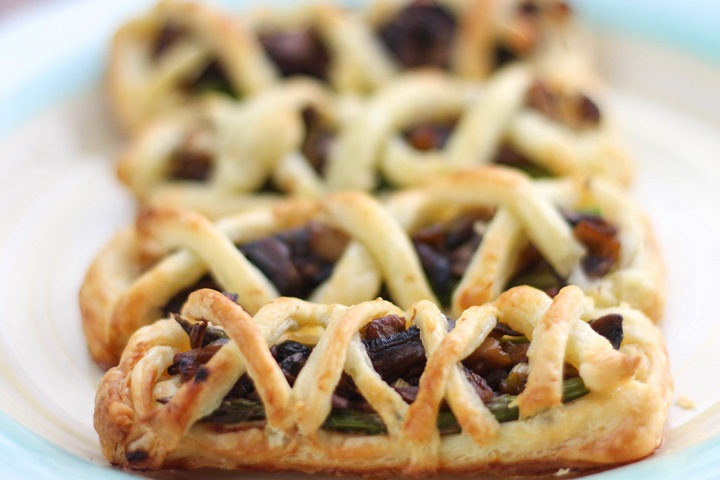 mushroom and asparagus pastry