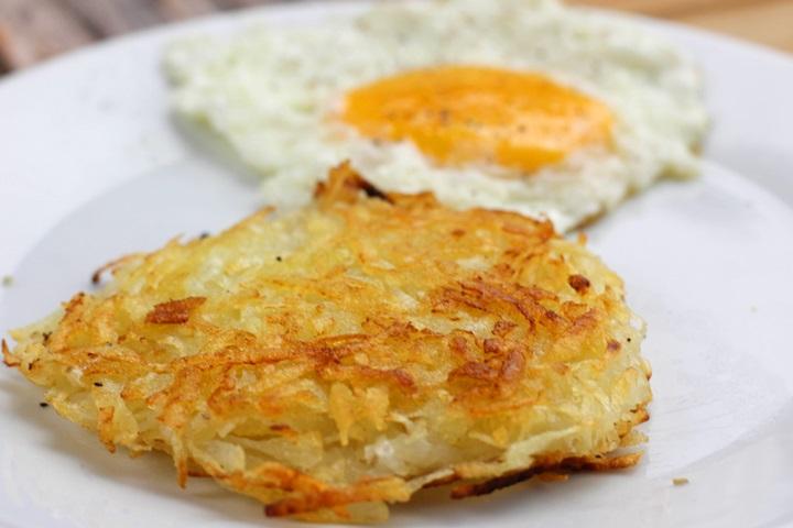 fried rösti potatoes