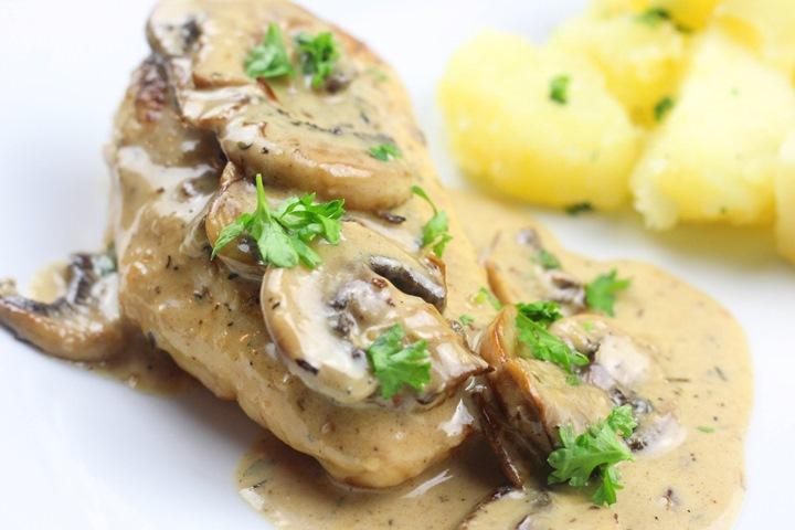 creamy chicken breast and mushroom