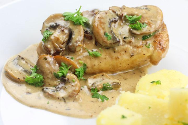 creamy chicken and mushroom