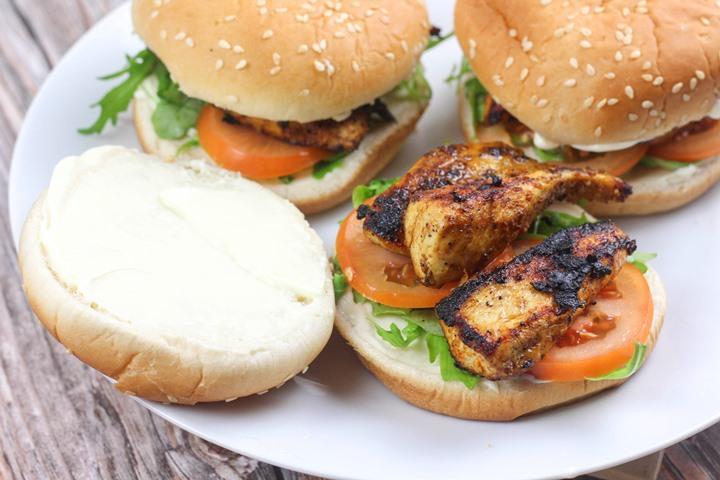chicken fried burger