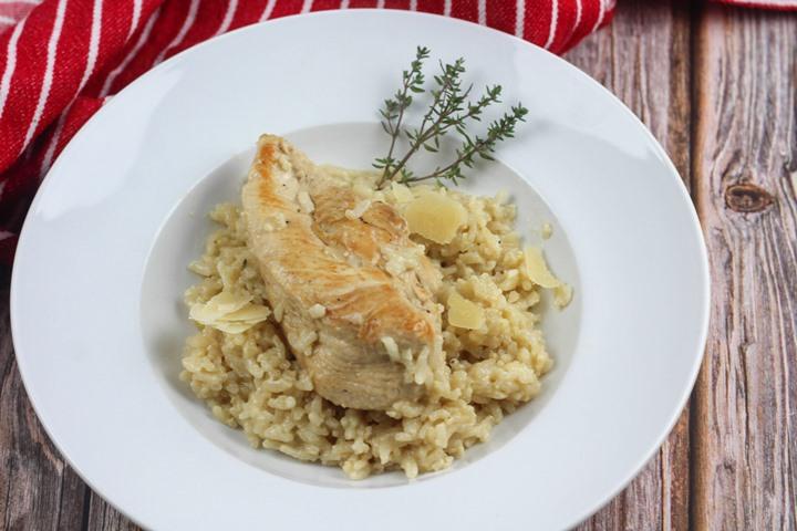 garlic chicken risotto