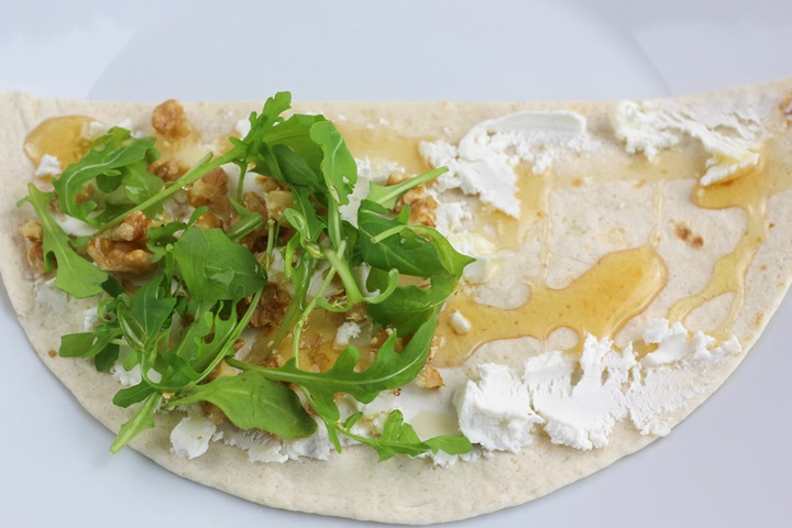 goats cheese in tortilla