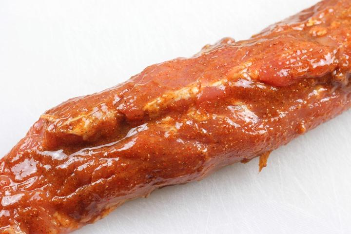 pork tenderloin after basting