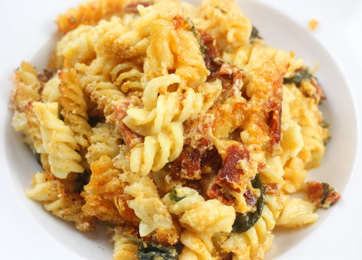 chorizo and gruyere pasta bake