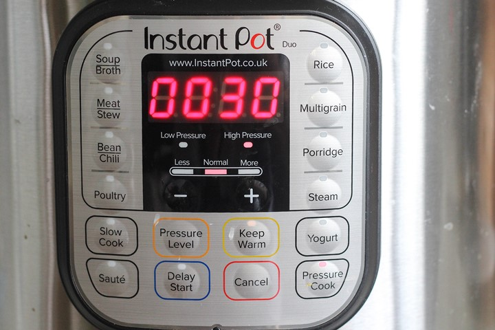 high pressure setting Instant Pot