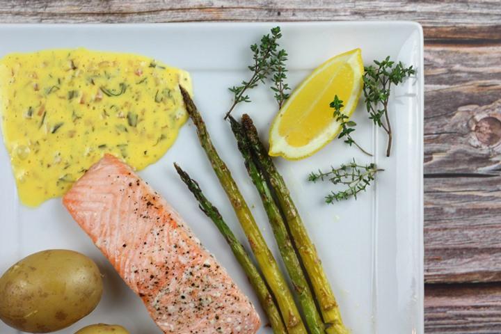 salmon with Bearnaise