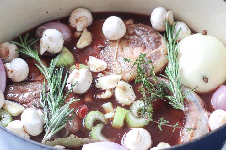 beef shin in casserole