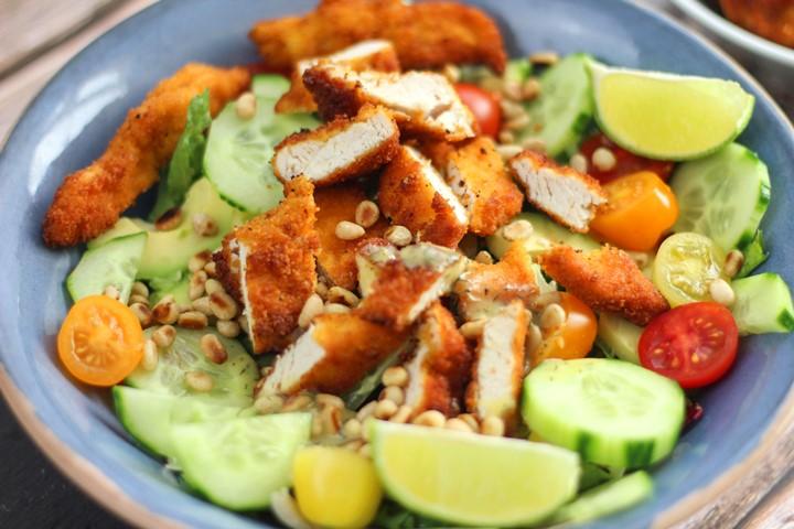 breaded chicken salad