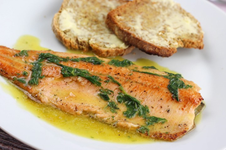 trout in butter lemon sauce